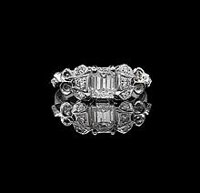 14 Kt. White Gold and Diamond Engagement Ring