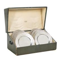 Cased Set of Twelve Tiffany & Co. Sterling Silver Service Plates
