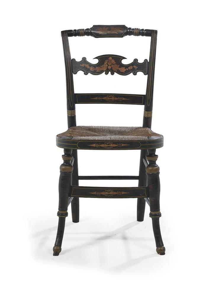 Suite Of Six American Stenciled Hitchcock Chairs
