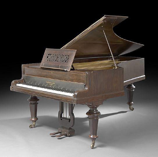J. Broadwood and Sons Semi-Grand Rosewood Piano
