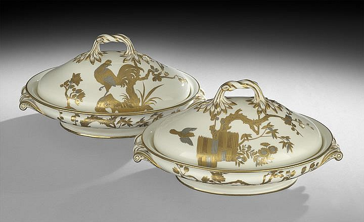 Pair of Minton Covered Vegetable Tureens
