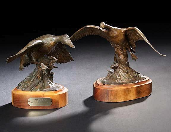 Veryl Goodnight (American/Colorado, b. 1947), two bronze sculptures, consisting of