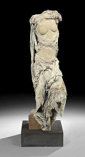 Contemporary Papier-Mache and Wood Sculpture