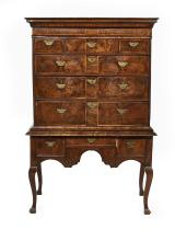 Queen Anne Walnut Highboy