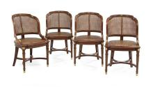 Suite of Four Empire-Style Mahogany Chairs