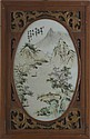 Chinese Painted Porcelain Oval Plaque