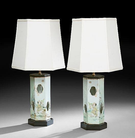 Pair of Chinese Porcelain Hat Stands