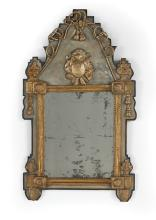 Italian Neoclassical Parcel-Gilt Mirror