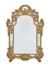 Italian Rococo-Style Giltwood Mirror