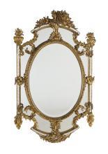 Italian Fin-de-Siecle Giltwood Mirror