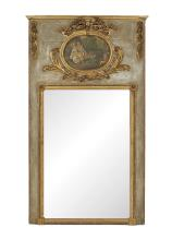 Large Louis XVI Parcel-Gilt Trumeau Mirror