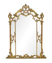 Handsome French Overmantel Mirror