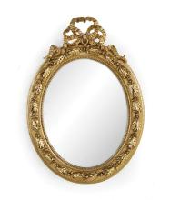 Louis-Philippe Giltwood Oval Mirror