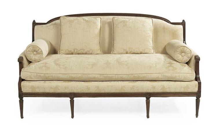 French Provincial Walnut Sofa