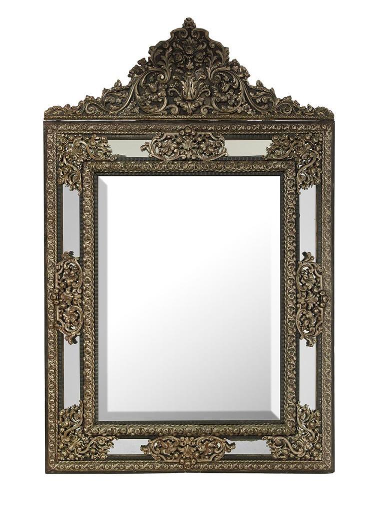 Dutch baroque style silver gilt and ebonized mirror for Dutch baroque architecture