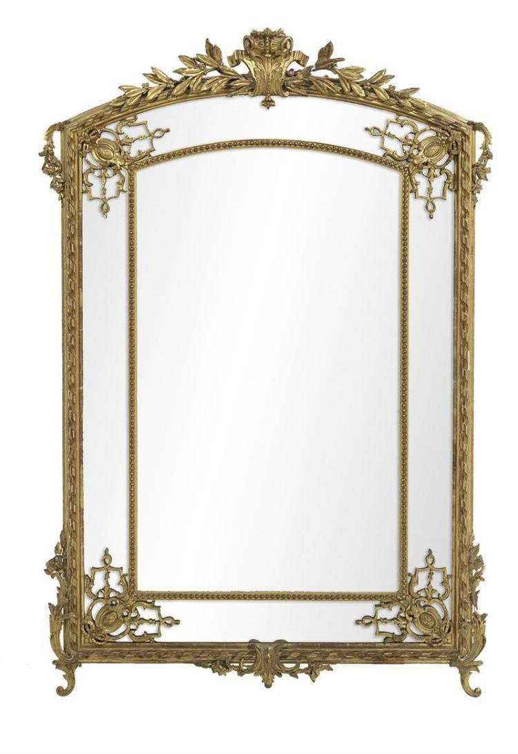 french giltwood mirror. Black Bedroom Furniture Sets. Home Design Ideas