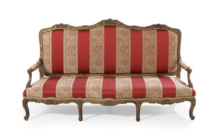 Louis xiv style giltwood sofa - Louis xiv sofa ...