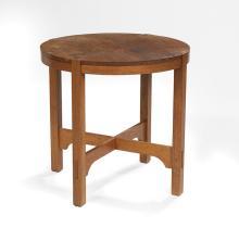 American Arts & Crafts Oak Circular Center Table