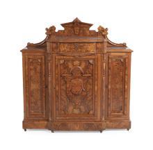 American Renaissance Revival Walnut Cabinet