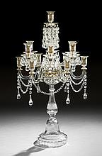 Regency-Style Anglo-Irish Cut Crystal Candelabrum