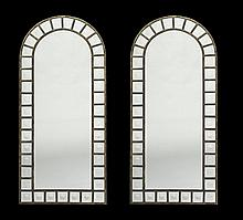Pair of Neoclassical-Style Arched Mirrors