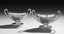 Pair of George III Sterling Silver Sauce Tureens