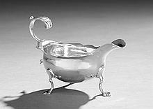 George III Hester Bateman Silver Cream Boat