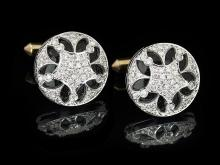 Diamond and Black Onyx Cufflinks