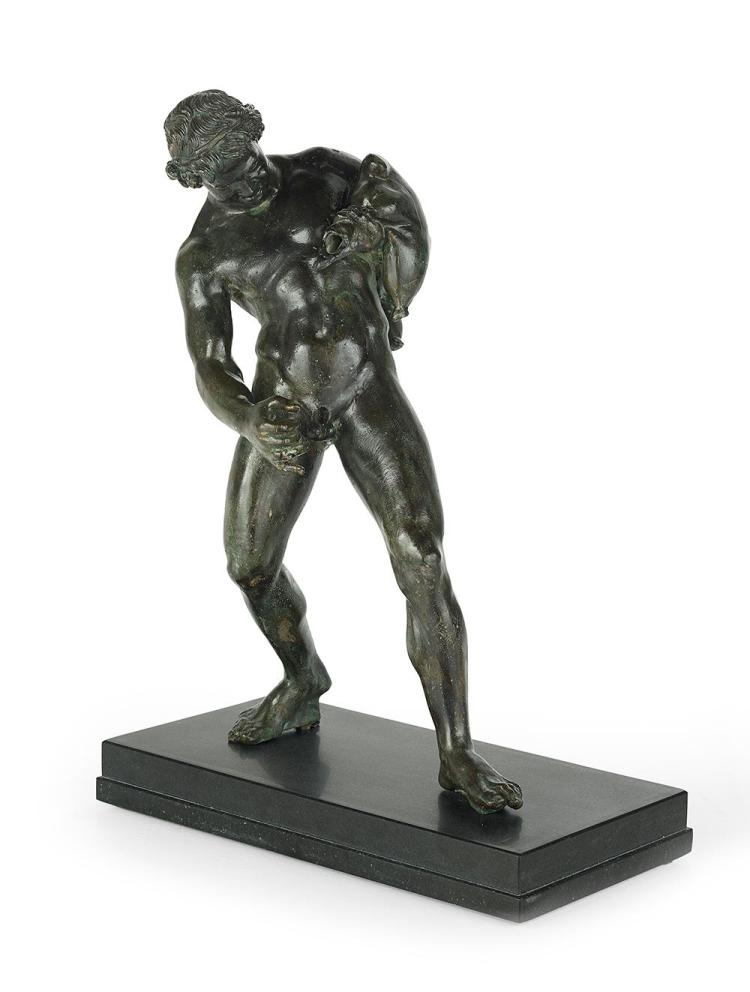 Continental Patinated Bronze Figure of