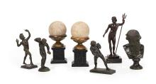 Seven-Piece Collection of Neoclassical Objets Decoratifs