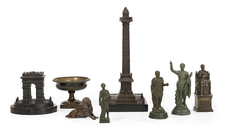 Collection of Eight Grand Tour Bronzes