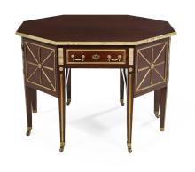 Russian Neoclassical Mahogany Center Table