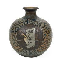 Atelier Primavera au Printemps Stoneware Art Deco Vase