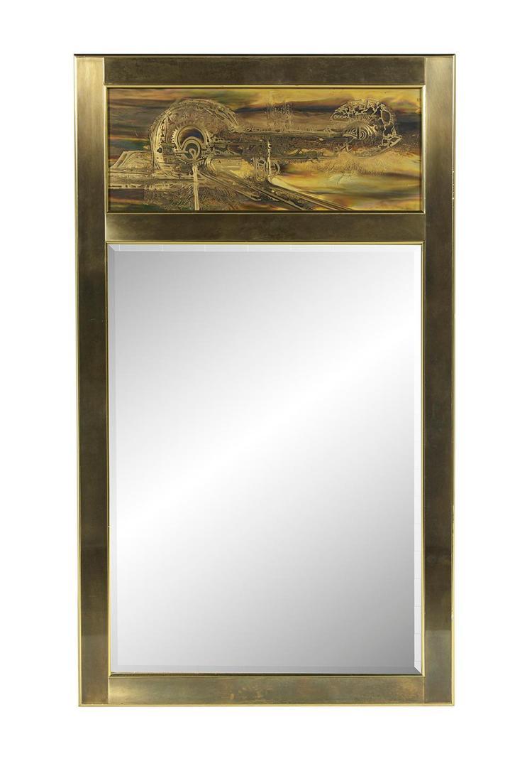 Bernhard Rohne for Mastercraft Brass Mirror