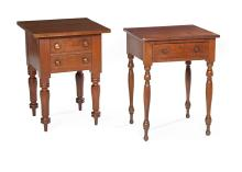 Two American Late Federal Cherry Work Tables