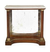 American Classical Bronze-Mounted Rosewood and Marble-Top Pier Table
