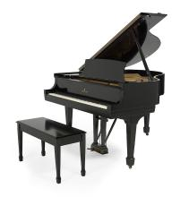 Steinway & Sons Model S Ebonized Baby Grand Piano and Bench