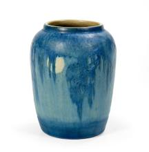Newcomb College Art Pottery, matte-glazed vase, ca. 1930s, decorated by Aurelia Coralie Arbo, h. 5-1/4