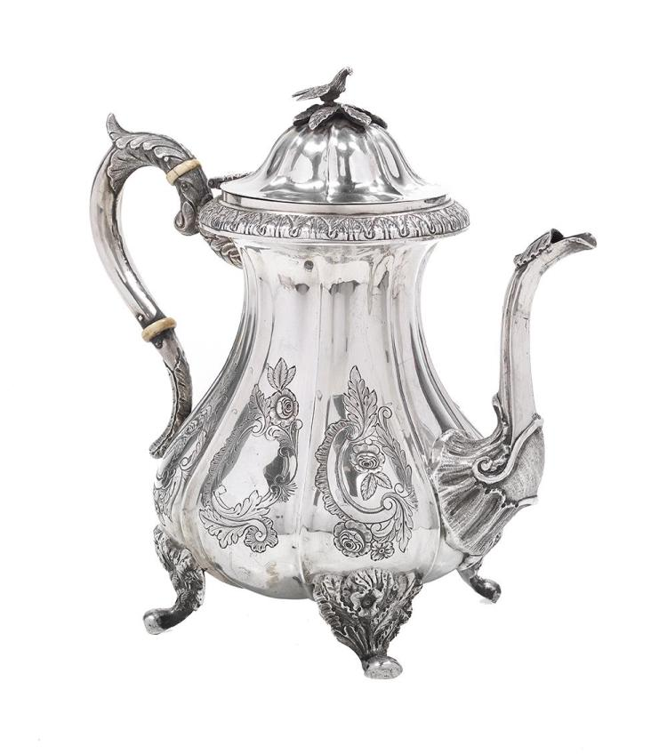 American Mid-Atlantic Coin Silver Coffeepot