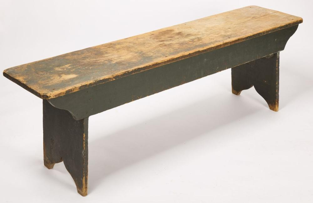 Long Bench in Blue Paint
