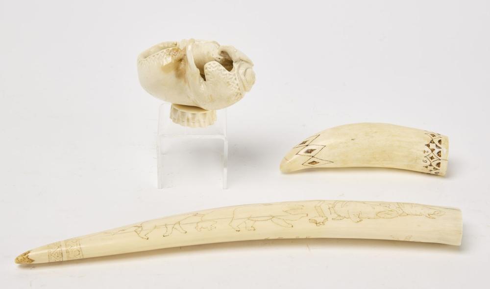 3 Alaskan Bone Carvings