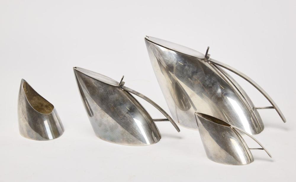 FALA Modernist Silvered Coffee Set