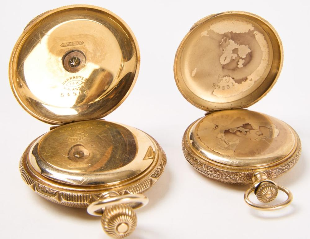 Two 14K Gold Pocket Watches