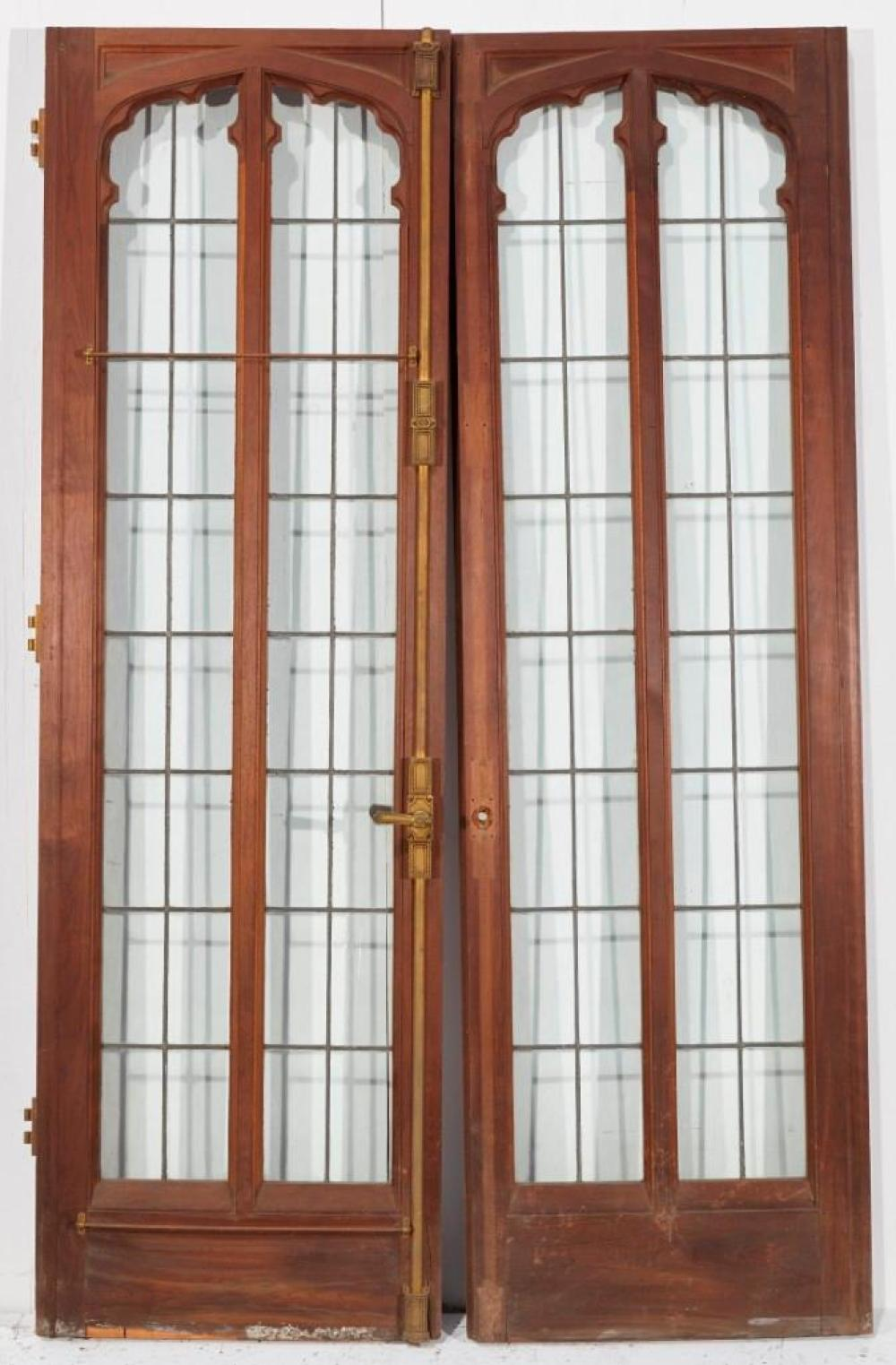 Brewster Mansion-Interior 2 part door with leaded glass