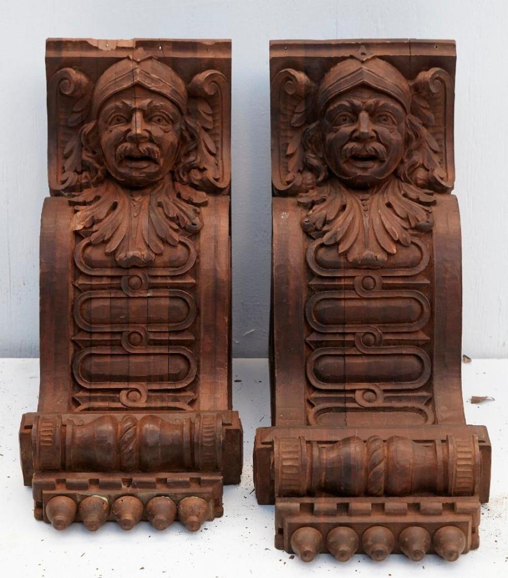 Brewster Mansion-Pair of Carved Corbels