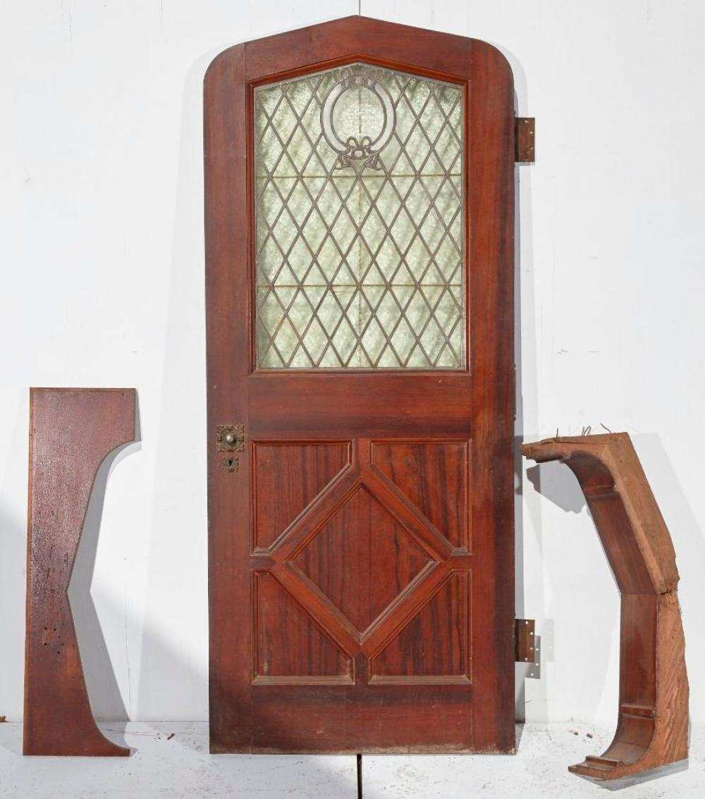 Brewster Mansion-Door with Diamond Leaded Glass