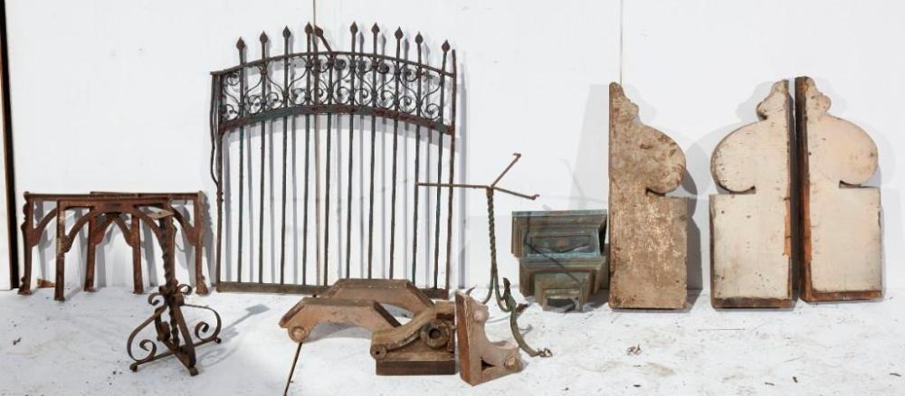Brewster Mansion-Iron metal architectural lot
