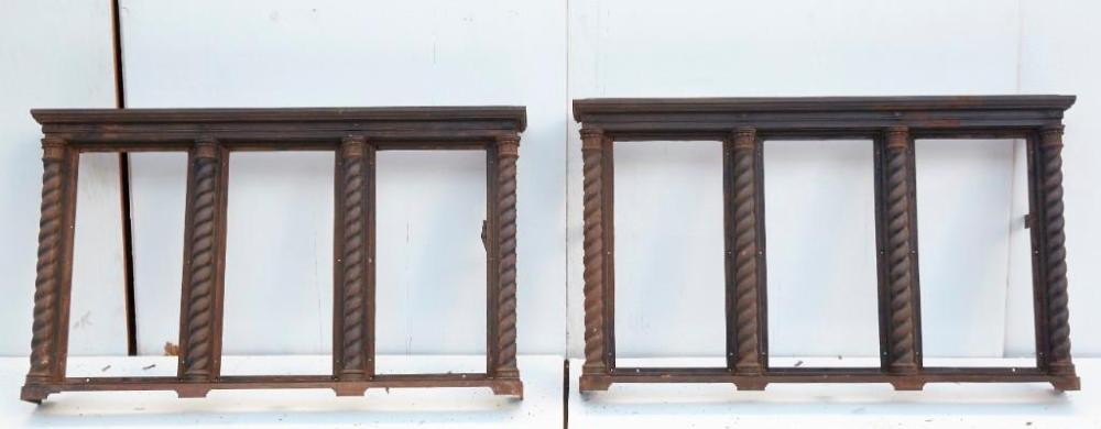 Pair of Ornate Cast Iron Standing Heating Grates