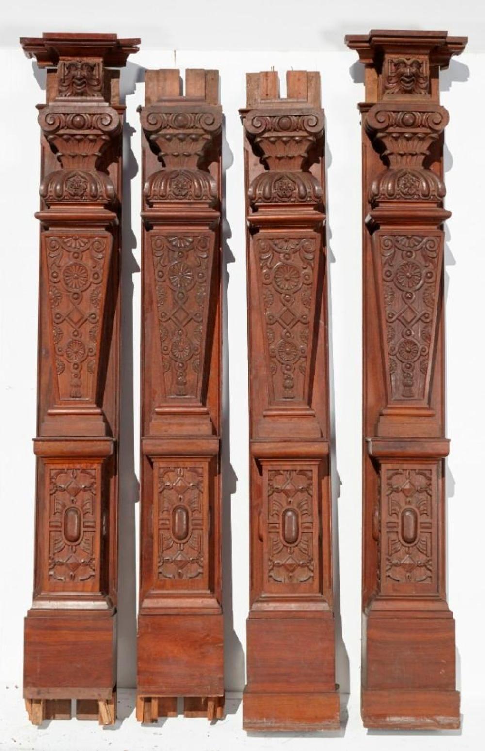 Brewster Mansion-4 Elaborately Carved Pilasters