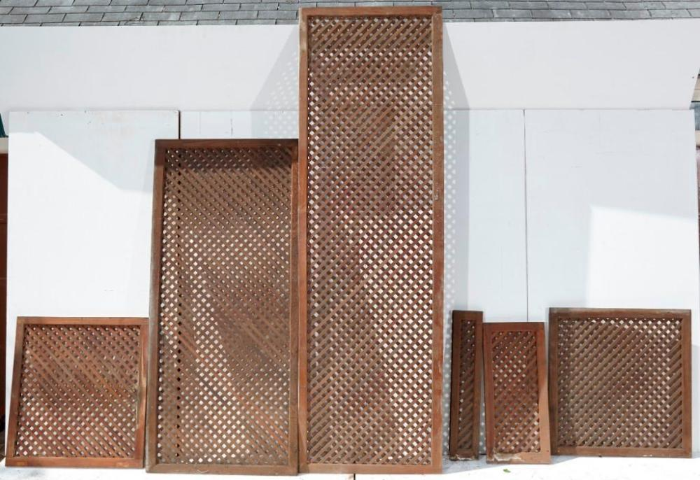 Brewster Mansion-Group of 7 Wooden Lattice panels